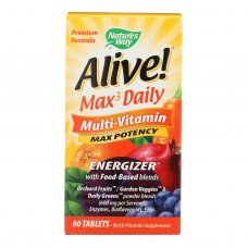 Natures Way - Alive! Max3 Daily Multi-vitamin - Max Potency - 60 Tablets