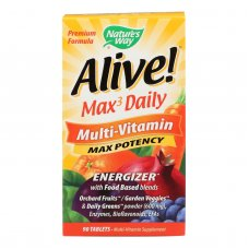 Natures Way - Alive! Max3 Daily Multi-vitamin - Max Potency - 90 Tablets