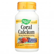 Natures Way Coral Calcium With 73 Trace Minerals - 90 Vegetarian Capsules