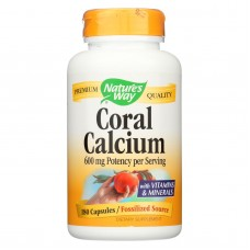 Natures Way Coral Calcium With 73 Trace Minerals - 180 Vcaps