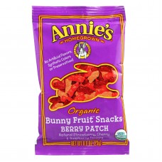 Annies Homegrown Organic Bunny Fruit Snacks - Berry Patch - .8 Oz - Case Of 18