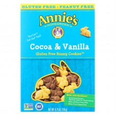 Annies Homegrown Gluten Free Cocoa And Vanilla Bunny Cookies - Case Of 12 - 6.75 Oz.