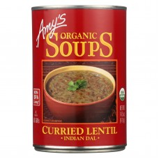 Amys Curried Lentil Soup -made With Organic Ingredients - Case Of 12 - 14.5 Oz