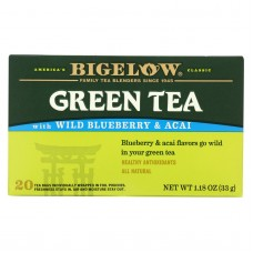 Bigelow Tea Green Tea With Blueberry - Case Of 6 - 20 Bag