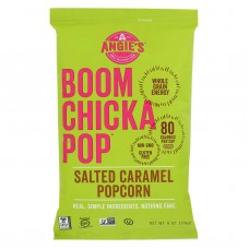 Angies Kettle Corn Boom Chicka Pop Salted Caramel Popcorn - Case Of 12 - 6 Oz.