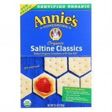 Annies Homegrown Organic Saltine Classic Crackers - Case Of 12 - 6.5 Oz.