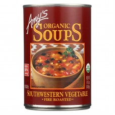 Amys Organic Fire Roasted Southwestern Vegetable Soup - Case Of 12 - 14.3 Oz