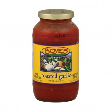 Boves Of Vermont Pasta Sauce - Roasted Garlic - Case Of 6 - 24 Fl Oz.
