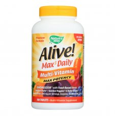 Natures Way - Alive! Max3 Daily Multi-vitamin - Max Potency - No Iron Added - 180 Tablets