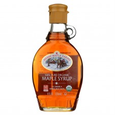 Shady Maple Farms Maple Syrup - Organic - Grade A - Dark - 8.0 Oz - Case Of 12