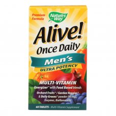 Natures Way Alive Once Daily Mens Multi-vitamin - 60 Tablets