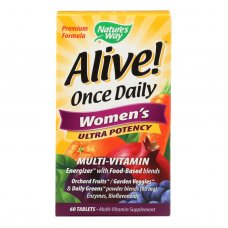 Natures Way Alive Once Daily Womens Multi-vitamin Ultra Potency - 60 Tablets