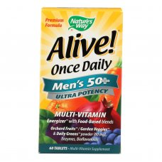 Natures Way Alive Once Daily Mens 50 Plus Multi-vitamin - 60 Tablets