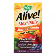 Natures Way - Alive! Max6 Daily Multi-vitamin - Max Potency - 90 Veg Capsules