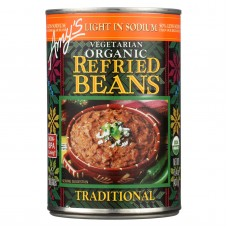 Amys Organic Light In Sodium Traditional Refried Beans - Case Of 12 - 15.4 Oz.