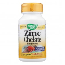 Natures Way Zinc Chelate - 30 Mg - 100 Capsules