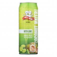 Amy And Brian Coconut Water With Lime - Case Of 12 - 17.5 Fl Oz