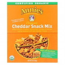Annies Homegrown Organic Bunnies Cheddar Snack Mix - Case Of 12 - 9 Oz.