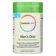 Rainbow Light Mens One Energy Multivitamin - 30 Tablets