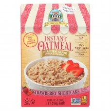 Bakery On Main Instant Oatmeal Shortcake - Strawberry - Case Of 6 - 10.5 Oz.