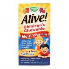 Natures Way - Alive! Childrens Chewable Multi-vitamin - Orange And Berry - 120 Chewable Tablets