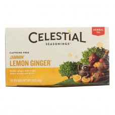 Celestial Seasonings Herbal Tea - Jammin Lemon Ginger - Caffeine Free - Case Of 6 - 20 Bags