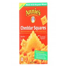 Annies Homegrown Cheddar Squares Baked Snack Crackers - Case Of 12 - 7.5 Oz.