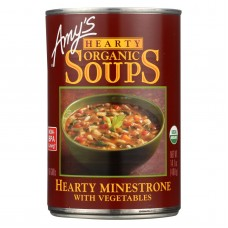 Amys Organic Hearty Vegetable Minestrone Soup - Case Of 12 - 14.1 Oz