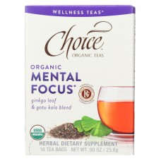 Choice Organic Teas - Organic Mental Focus Tea - 16 Bags - Case Of 6