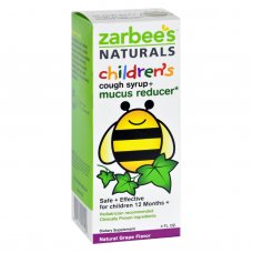 Zarbees Naturals Childrens Mucus Relief + Cough Syrup - Grape - 4 Oz