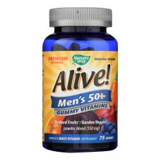 Natures Way Alive - Mens 50+ Gummy Multi-vitamins - 75 Chewables