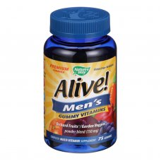 Natures Way Alive - Mens Energy Gummy Multi-vitamins - 75 Chewables