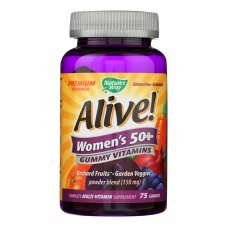 Natures Way Alive - Womens 50+ Gummy Multi-vitamins - 75 Chewables