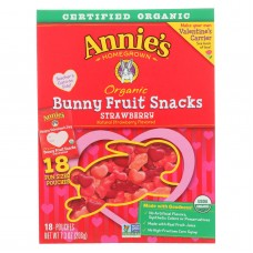 Annies Homegrown Fruit Snack Valentines Day - Case Of 12 - 7.3 Oz