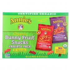 Annies Homegrown Organic Bunny Fruit Snacks Variety Pack - Case Of 12 - 9.6 Oz.