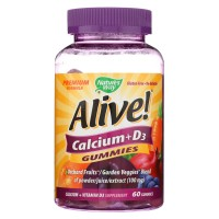 Natures Way - Alive! Calcium Plus D3 Gummies - 60 Gummies