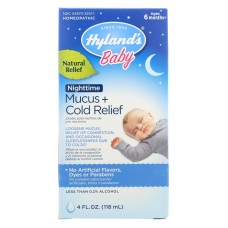 Hylands Homeopathic Baby Nighttime - Mucus + Cold Relief - 4 Fl Oz.