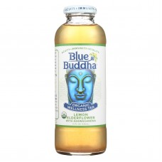 Blue Buddha Organic Wellness Tea - Lemon Elderflower With Ashwagandha - Case Of 12 - 14 Oz.