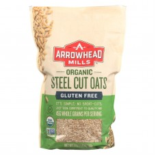 Arrowhead Mills Oats - Steel Cut - Gluten Free - Case Of 6 - 24 Oz