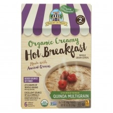 Bakery On Main Organic Creamy Hot Breakfast - Unsweetend Quinoa Multigrain - Case Of 6 - 8.5 Oz