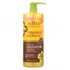 Alba Botanica Hawaiian Conditioner - Drink It Up Coconut Milk - 32 Oz