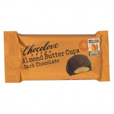 Chocolove Xoxox Cup - Almond Butter - Dark Chocolate - Case Of 12 - 1.2 Oz