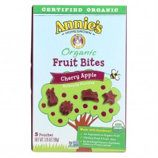 Annies Homegrown Fruit Bites Cherry Apple - Case Of 10 - 3.15 Oz