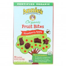 Annies Homegrown Fruit Bites Strawberry Apple - Case Of 10 - 3.15 Oz
