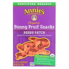 Annies Homegrown Fruit Snack Berry Patch - Case Of 10 - 4 Oz
