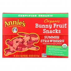 Annies Homegrown Fruit Snack Summer Strawberry - Case Of 10 - 4 Oz