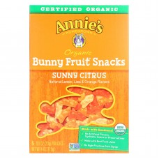 Annies Homegrown Fruit Snack Sunny Citrus - Case Of 10 - 4 Oz