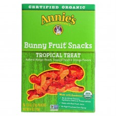 Annies Homegrown Fruit Snack Tropical Treat - Case Of 10 - 4 Oz