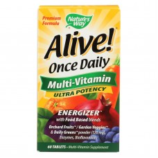 Natures Way - Alive! Once Daily Multi-vitamin - Ultra Potency - 60 Tablets