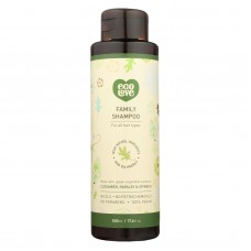 Ecolove Shampoo - Green Vegetables Family Shampoo For All Hair Types - Case Of 1 - 17.6 Fl Oz.